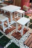 Cadeira no jardim Fotografia de Stock