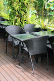 Cadeira no jardim Imagens de Stock
