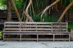 Cadeira no jardim Foto de Stock Royalty Free