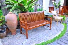 Cadeira no jardim Foto de Stock
