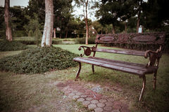 Cadeira no parque Foto de Stock