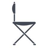 Cadeira para o curso ou para acampar Fotografia de Stock