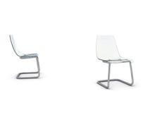 Cadeira plástica ilustração stock