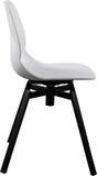 Cadeira plástica da cor branca, desenhista moderno Cadeira de giro isolada no fundo branco Mobília e interior Imagens de Stock Royalty Free