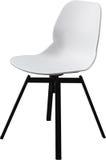 Cadeira plástica da cor branca, desenhista moderno Cadeira de giro isolada no fundo branco Mobília e interior Fotos de Stock