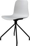 Cadeira plástica da cor branca, desenhista moderno Cadeira de giro isolada no fundo branco Mobília e interior Imagem de Stock Royalty Free