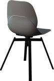 Cadeira plástica da cor cinzenta, desenhista moderno Cadeira de giro isolada no fundo branco Mobília e interior Fotografia de Stock Royalty Free