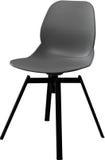 Cadeira plástica da cor cinzenta, desenhista moderno Cadeira de giro isolada no fundo branco Mobília e interior Imagem de Stock Royalty Free