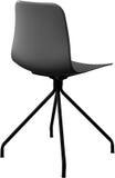 Cadeira plástica da cor cinzenta, desenhista moderno Cadeira de giro isolada no fundo branco Mobília e interior Foto de Stock Royalty Free