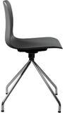 Cadeira plástica da cor cinzenta, desenhista moderno Cadeira de giro isolada no fundo branco Mobília e interior Imagens de Stock Royalty Free