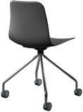 Cadeira plástica da cor cinzenta, desenhista moderno Cadeira de giro isolada no fundo branco Mobília e interior Foto de Stock
