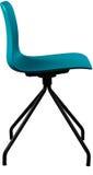 Cadeira plástica da cor de turquesa, desenhista moderno Cadeira de giro isolada no fundo branco Mobília e interior Imagens de Stock