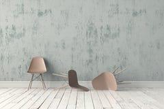 Cadeira plástica moderna Fotos de Stock Royalty Free