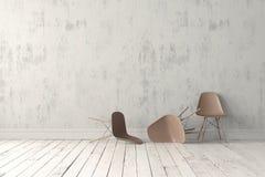 Cadeira plástica moderna Fotografia de Stock Royalty Free