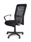 Cadeira preta confortável do escritório Fotografia de Stock Royalty Free