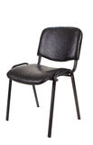 Cadeira preta do escritório isolada no fundo branco Fotografia de Stock