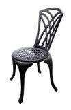 Cadeira preta do pátio do ferro Imagens de Stock
