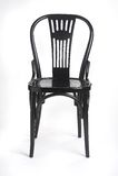 Cadeira preta - schwarzer Stuhl Foto de Stock Royalty Free