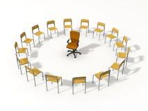 Cadeira vazia para o líder ilustração stock