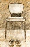 Cadeira velha da ilustração Foto de Stock