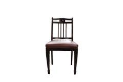 Cadeira velha para o fundo branco Foto de Stock