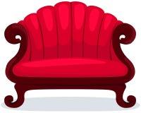 Cadeira vermelha ilustração royalty free