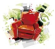 Cadeira vermelha Foto de Stock