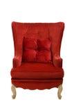Cadeira vermelha de veludo do vintage Imagens de Stock Royalty Free