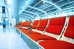 Cadeira vermelha longa Fotos de Stock Royalty Free