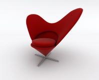 Cadeira vermelha moderna ilustração stock