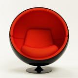 Cadeira vermelha moderna da esfera isolada no fundo branco Fotografia de Stock Royalty Free