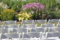 Cadeiras 2 do casamento Imagens de Stock
