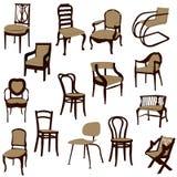 Cadeiras. ilustração royalty free