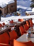 Cadeiras alaranjadas brilhantes Imagens de Stock Royalty Free
