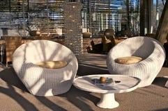 Cadeiras ao ar livre de Louge Imagem de Stock Royalty Free