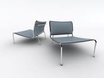 Cadeiras azuis ilustração royalty free