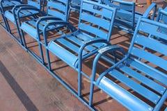 Cadeiras azuis de agradável Foto de Stock Royalty Free