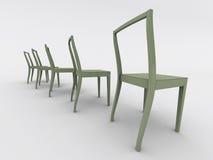 Cadeiras brancas ilustração royalty free