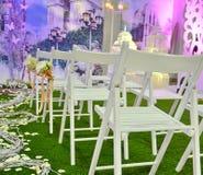 Cadeiras brancas Fotografia de Stock