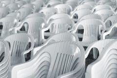 Cadeiras brancas Foto de Stock