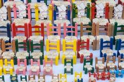 Cadeiras coloridas Fotografia de Stock