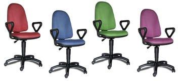 Cadeiras coloridas do escritório Fotografia de Stock