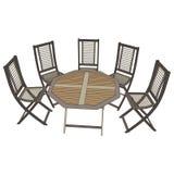 Cadeiras com opinião da tabela 3d Fotografia de Stock Royalty Free