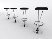 Cadeiras da barra ilustração stock