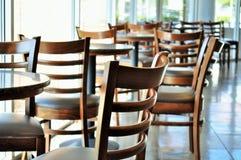 Cadeiras da cafetaria Fotos de Stock
