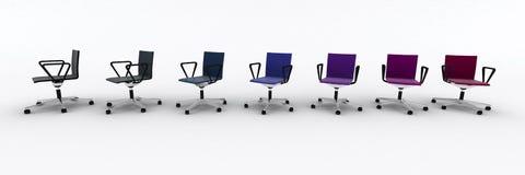 Cadeiras da cor ilustração stock