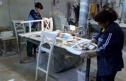 Cadeiras da fábrica Fotos de Stock