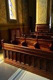 Cadeiras da igreja Imagens de Stock Royalty Free