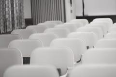 Cadeiras da igreja Fotos de Stock