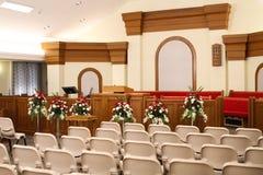 Cadeiras da igreja Foto de Stock